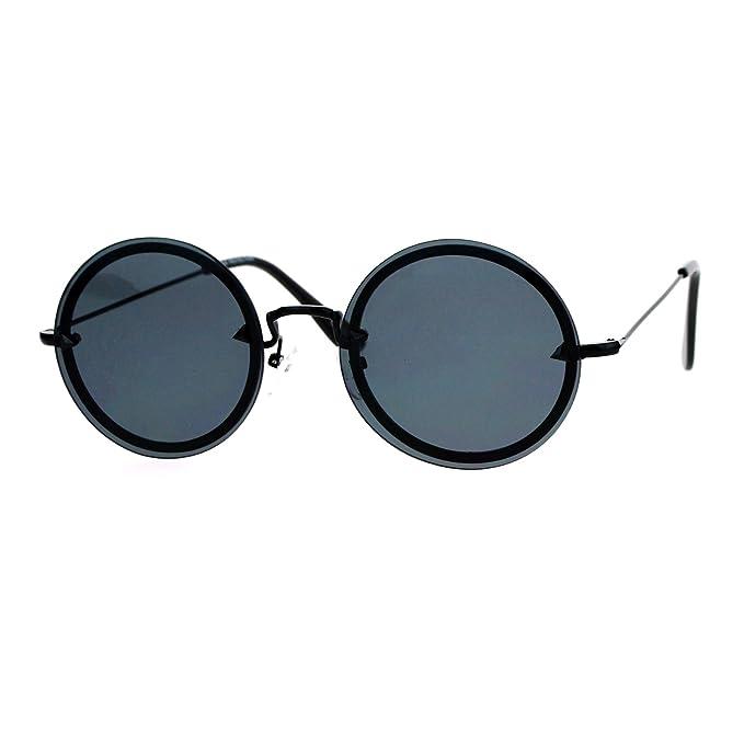Amazon.com: Círculo redondo marco anteojos de sol para mujer ...