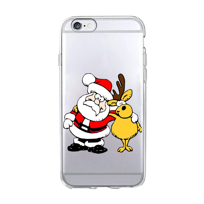 Amazon.com: Merry Christmas - Carcasa de silicona y TPU para ...