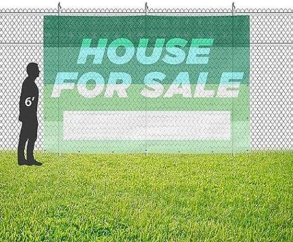 12x8 Modern Gradient Wind-Resistant Outdoor Mesh Vinyl Banner House for Sale CGSignLab