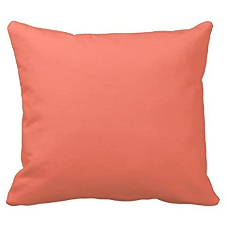 Amazon Solid Color Coral Throw Pillow Cover Cottons 18 x 18