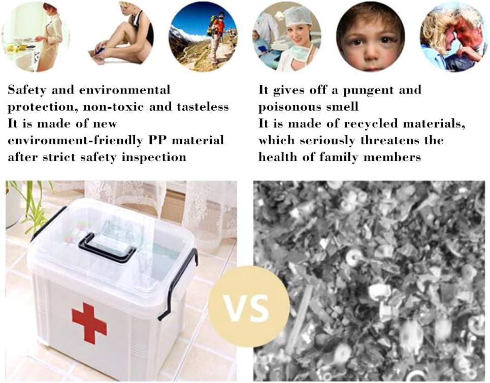 per dormitorio LICHENGTAI clinica ospedale colore: bianco 33 x 24 x 19 cm per uso domestico Scatola per medicina portatile in plastica contenitore per medicinali