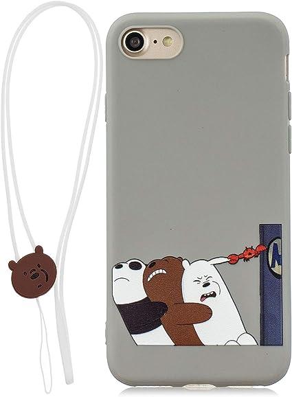 HopMore Compatible con Funda iPhone 7 (4.7 Inch) Silicona Dibujo