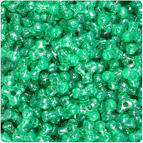 BeadTin Emerald Green Sparkle 11mm TriBead Craft Beads (600pc)