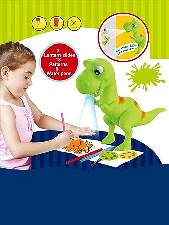 Amazon.com: madsbag dinosaurio Proyector dibujo aprendizaje ...