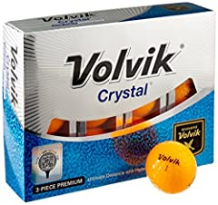 The Volvik Crystal is a premium level 3-piece golf ball provides the ultimate in distance with a hyper soft feel. The Volvik Crystal 3-piece is the evolution of the original Crystal ball that revolutionized the color golf ball market. Explosi...