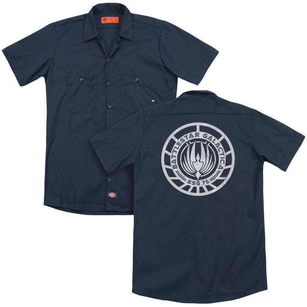 Bsg Scratched Bsg Logo Adult Work Shirt