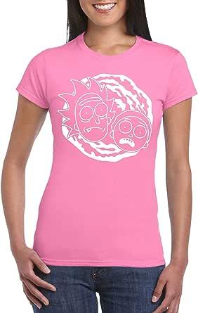 Pink Female Gildan Short Sleeve T-Shirt - Rick and Morty – Portal design