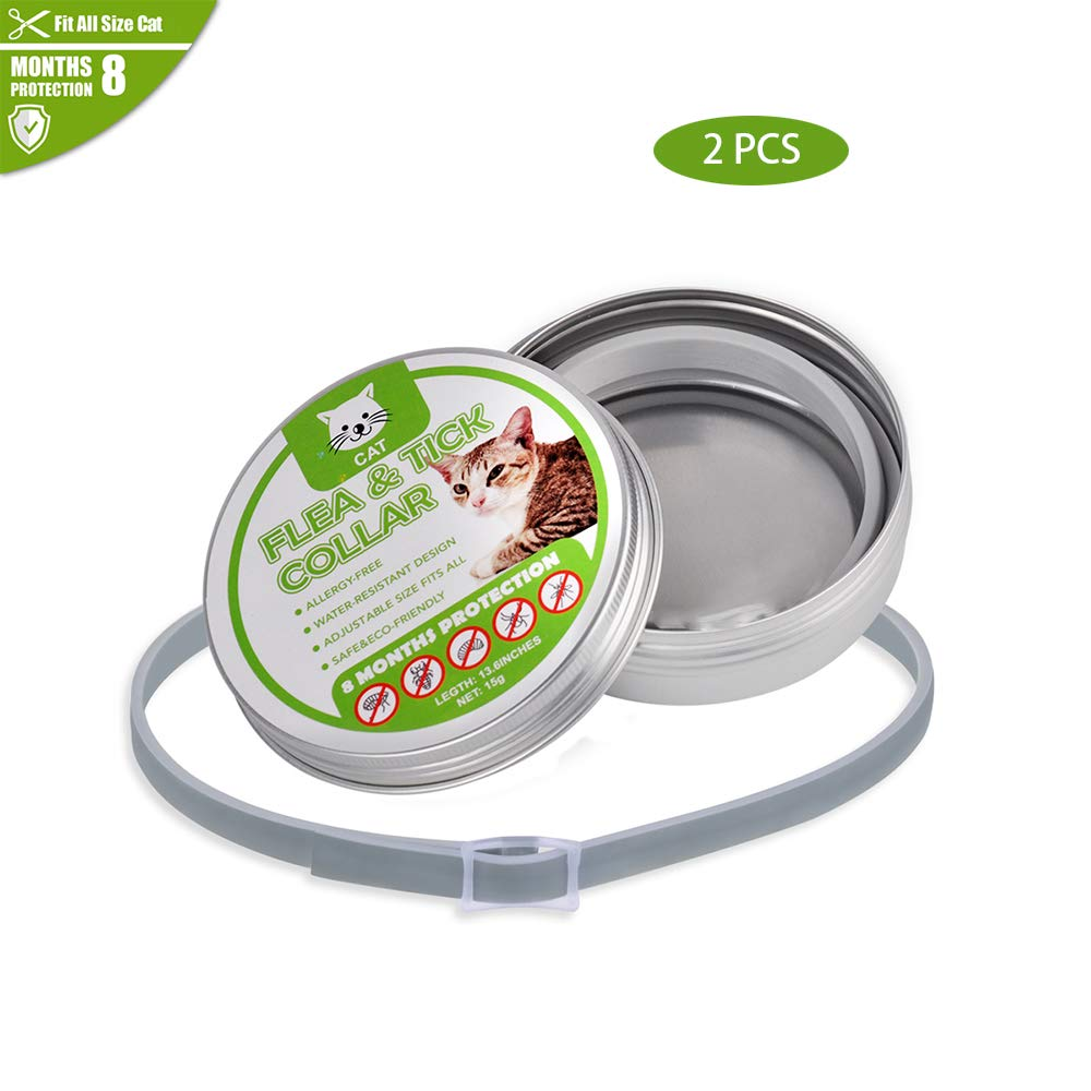 A2PCS Pest Control Collars,Flea and Tick Collar for Cats & Puppies-Natural Plant Essential Oil Formula 8 Months Predection,Adjustable 13.5  Length for Small Medium Pets,A2PCS