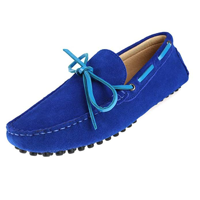 Santimon Hombre Matte piel conducción Horsebit tipo mocasín Guantes, color Azul, talla 38: Amazon.es: Zapatos y complementos