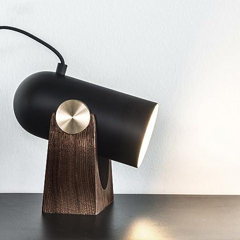 legely black iron table lamp postmodern simple design art lamp living room restaurant cafe - U Shape Hotel Decoration