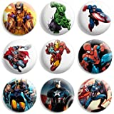 Super Heroes Marvel Pinback Buttons Pin Badges 1 Inch (25mm) - Pack of 9