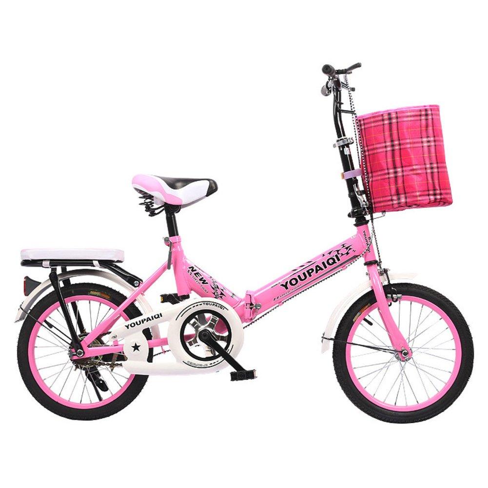学生折りたたみ自転車, 子供用折りたたみ自転車 折りたたみバイク子供 学生 高齢者の ≥8 の子供たち B07DKBGFS5ピンクB 20inch