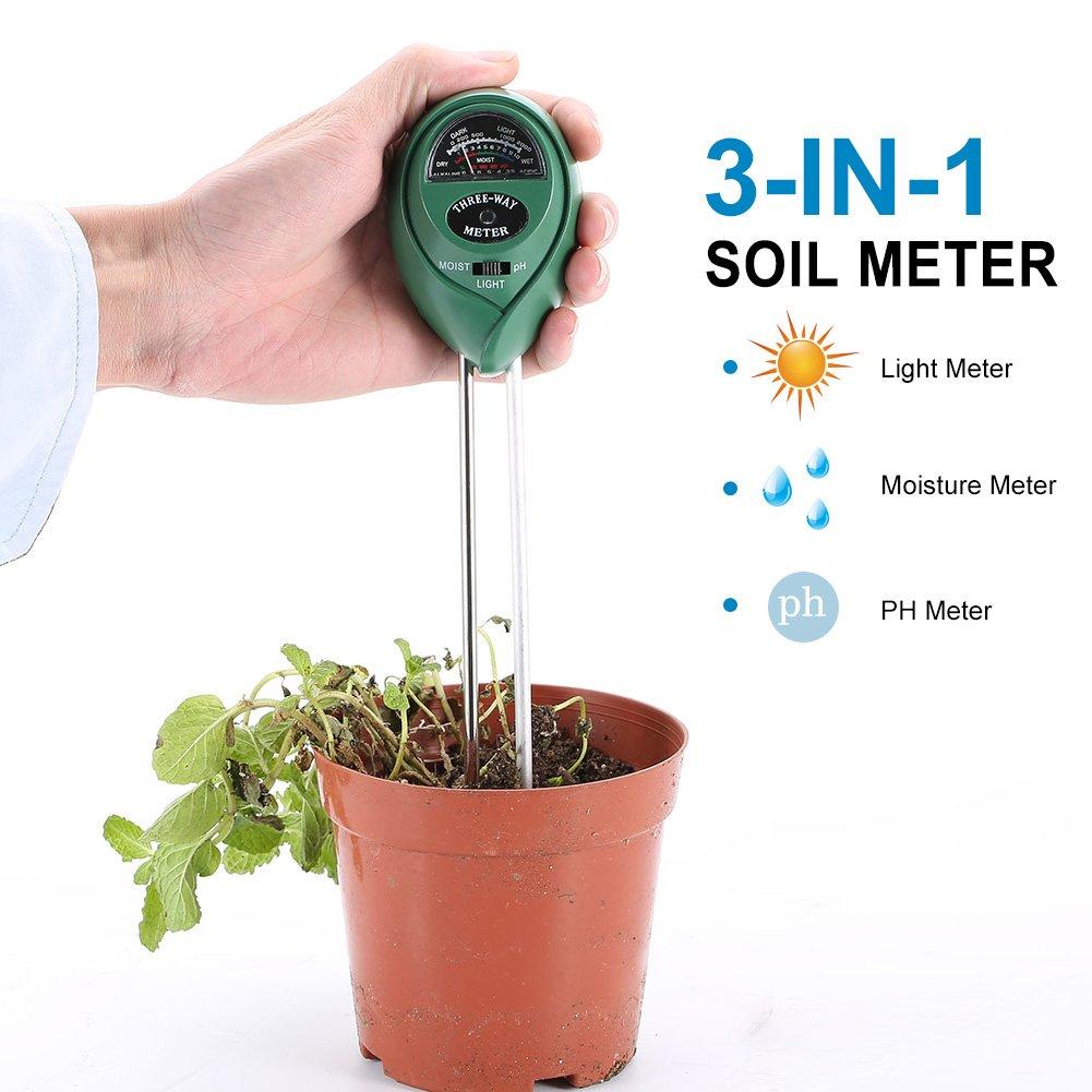LYPULIGHT  suelo probador del suelo medidor de humedad luz PH prueba