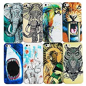 YULIN Exaggerated Animals Series Back Case for iPhone4/4S(Assorted color) , 3#
