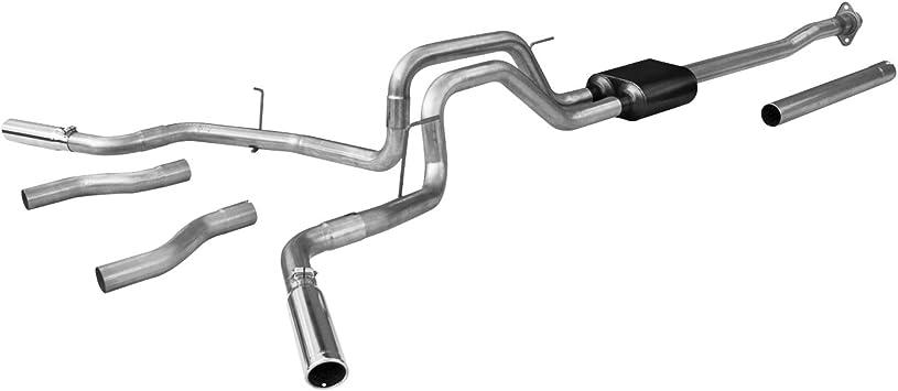 Amazon Com Flowmaster 817522 Cat Back Exhaust System For Ford F 150 4 6l 5 0l 5 4l V8 Engine Automotive