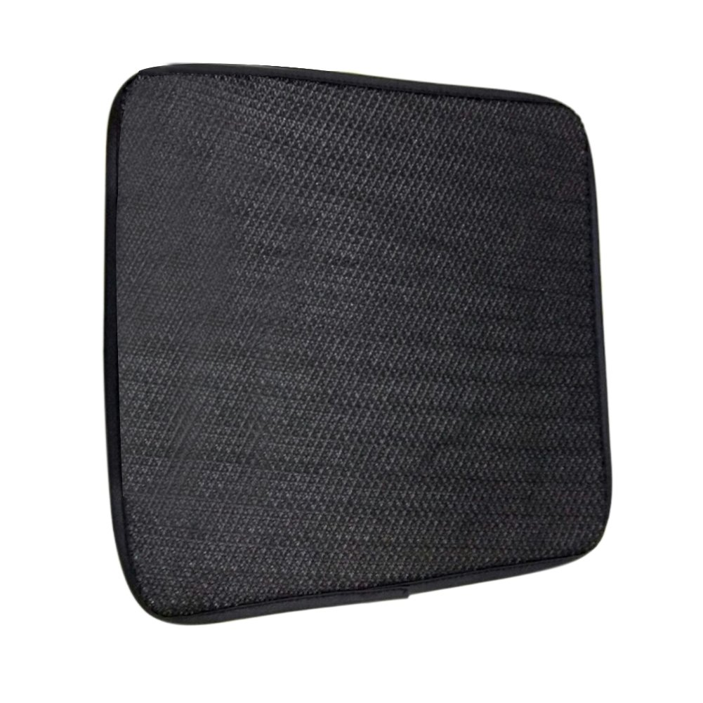 Single Car Seat Pads Cover Summer Breathable Cool Mats For Auto Accessories Four Seasons Universal Pad Interior Cushion Child And Baby Cars Seats Feel Great Available Anti Slip Base Mat Ice Silk Square Backless Anti-Slip Free Tying (Black) Comaie