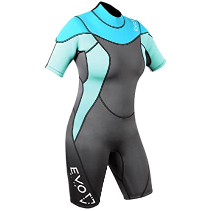 adaa1fcc30 Image Unavailable. Image not available for. Color  EVO Elite 3mm Shorty  Wetsuit (Women s) ...