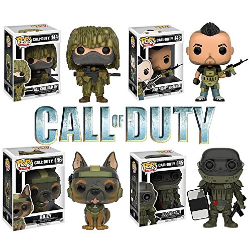 Price comparison product image Pop!: Call of Duty Soap MacTavish, Riley, Juggernaut and All Guillied Up! Vinyl Figures Set of 4