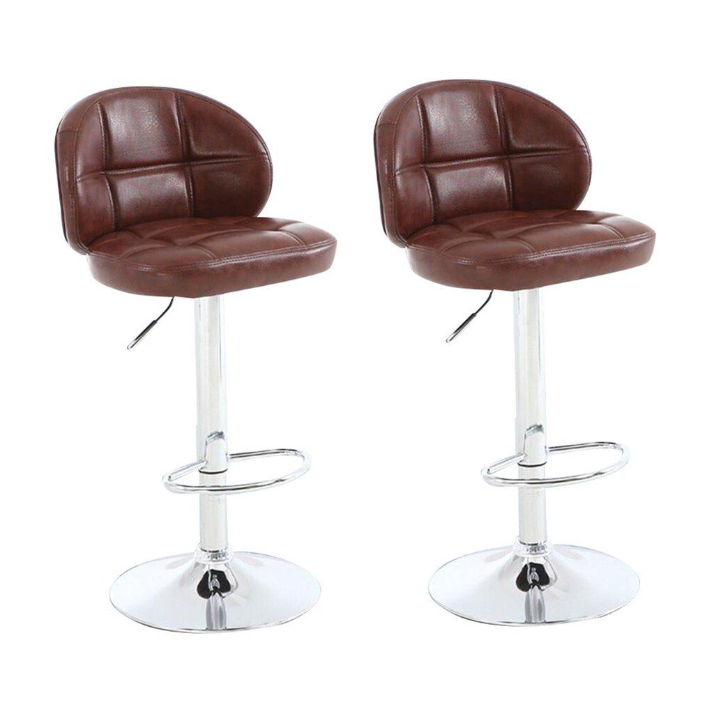 XUEPING バースツール/チェアカウンターチェアローターリフトオフィスチェアキッチンレストランバースツール/椅子8色ハイバックハイスツール現金レジスター (色 : E, サイズ さいず : 二) B07D3TNN9X 二|E E 二