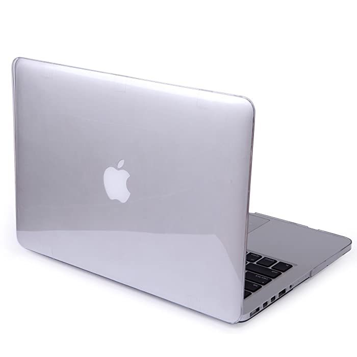 HDE Clear Hard Shell Case for Apple MacBook Pro 13 Inch with Retina Display (Models: A1425 & A1502), Crystal Clear
