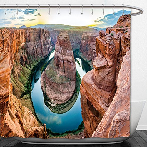 Interestlee Shower Curtain Horseshoe Bend in the USA panorama - Or Bend Macy's