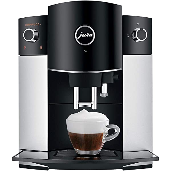 JURA D6 Independiente Máquina espresso Negro, Platino 1,9 L 16 ...