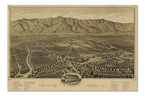 San Gabriel, California Panoramic Map (20x30 Premium 1000 Piece Jigsaw Puzzle, Made in USA!)