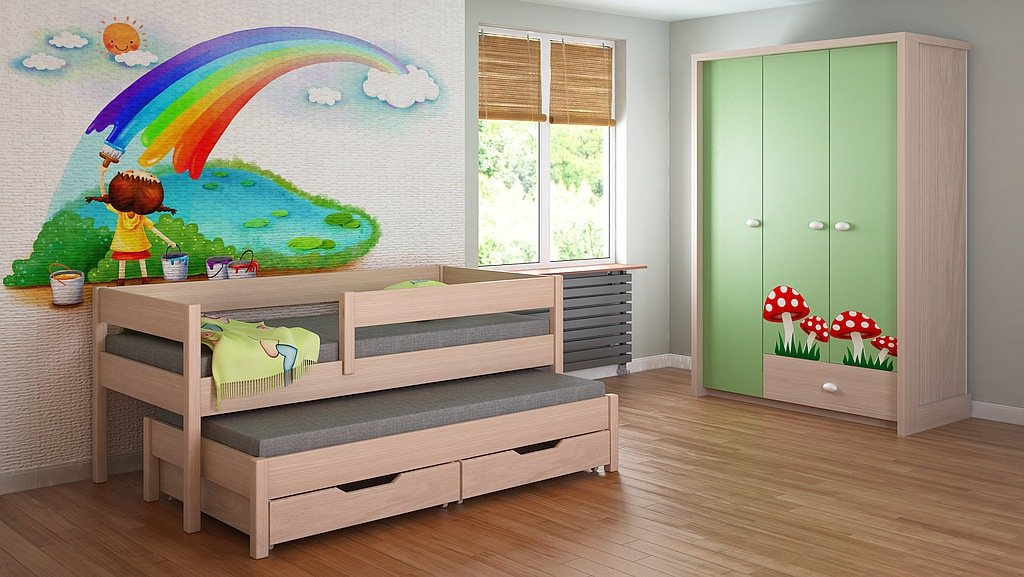 Cama nido para niños Colchones Junior para niños 140x70 160x80 180x80 180x90 200x90 ¡Sin cajones y sin colchón incluido! (180x80, blanco): Amazon.es: Hogar