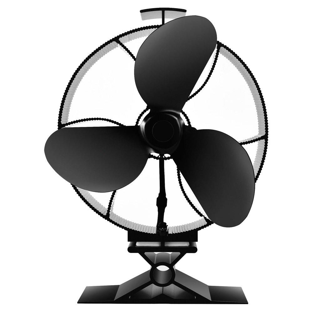 Stromloser Ventilator für Kamin Holzöfen Holzöfen Holzöfen Öfen, 4 Flügel Ofen Ventilator für Kaminrohr bd8583