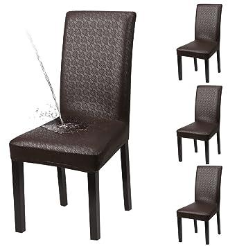 YISUN 4/Juego De 6 sillas de Comedor, sólida Cuero PU Agua Densidad ...