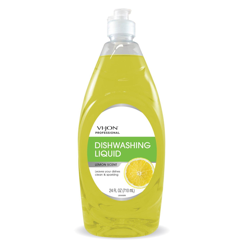 Vi-Jon Professional 1000044635 Lemon Liquid Dish Soap, 24 oz, 82.27 fl. oz. (Pack of 6)