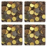 Liili Square Coasters IMAGE ID 9533466 antique real old spain republic 1937 currency peseta and 50 cents