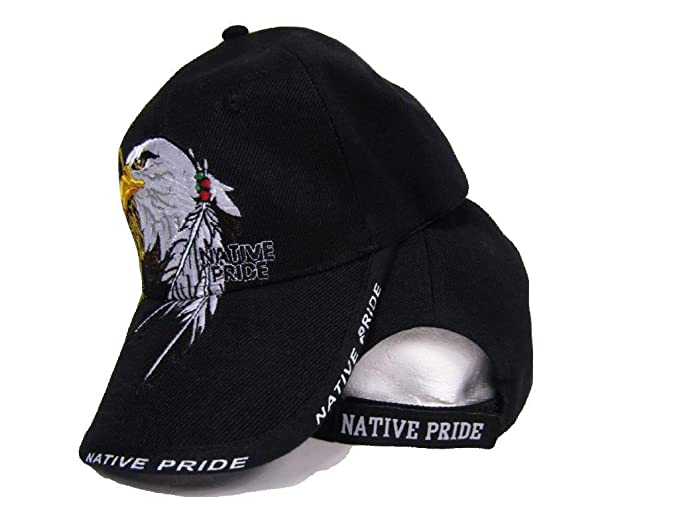 a84e162af mws Native American Eagle Indian Native Pride Shadow Black Ball Cap 3D  Embroidered Hat