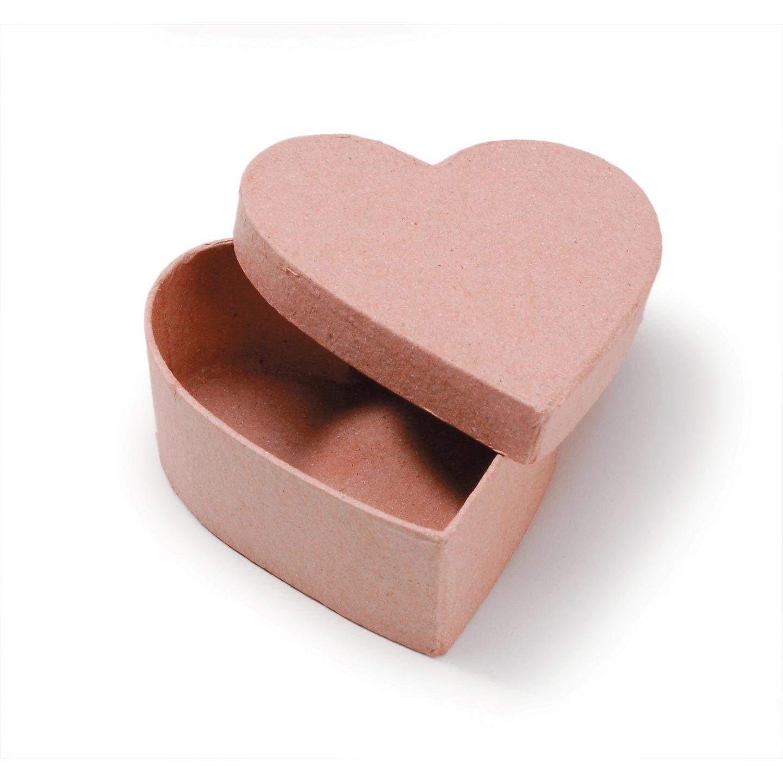 Bulk Buy: Darice DIY Crafts Paper Mache Box Heart 3.5 in (6-Pack) 2805-96 Inc.