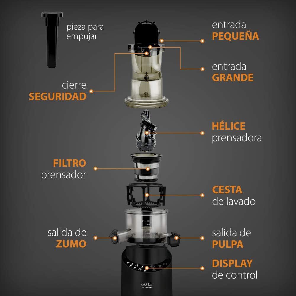 GRIDINLUX. Juice Nature. Prensadora en Frío, Exprimidor, Licuadora ...