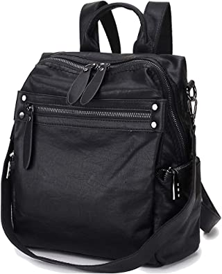 PU Leather Shoulder Bag,Cotton Flower Backpack,Portable Travel School Rucksack,Satchel with Top Handle