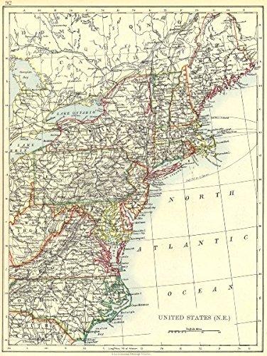 Nh Usa Map.Amazon Com United States North East Me Nh Vt Ma Ny Nj Ct Ri Nc Wv