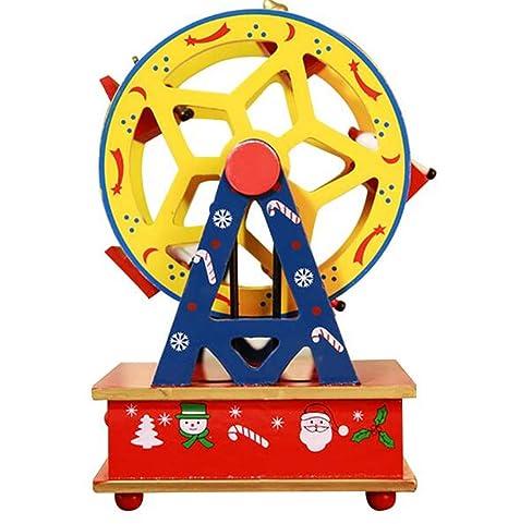 Christmas Ferris Wheel Music Box.Biscount Merry Christmas Ferris Wheel Music Box Wooden
