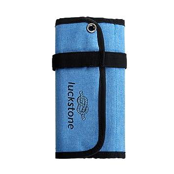 Sharplace Bolsa Enrollable Durable para Almacenaje de Tornillos de Hielo Ahorrar Espacio Azul