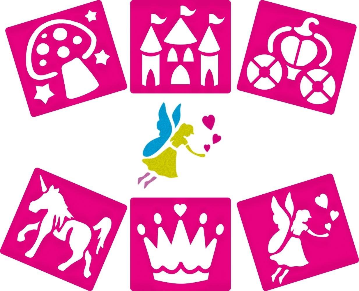 D/écorer et Personnaliser des Illustrations et Collages Pochoirs sur le Th/ème des F/ées que les Enfants pourront utiliser pour Cr/éer Lot de 6