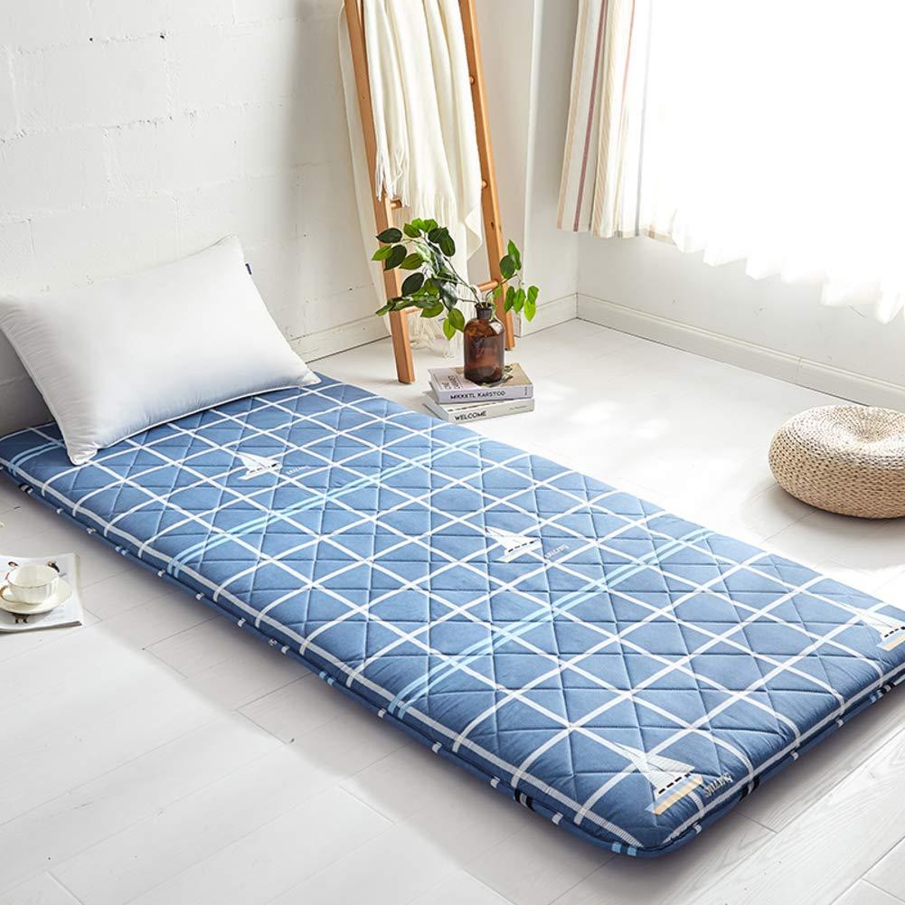 A 120x200cm(47x79inch) Thick Premium Futon Mattress pad, Foldable Japanese Futon Matt mat Sleeping Quilted Mattress mat for Student Dormitory Home-A 120x200cm(47x79inch)