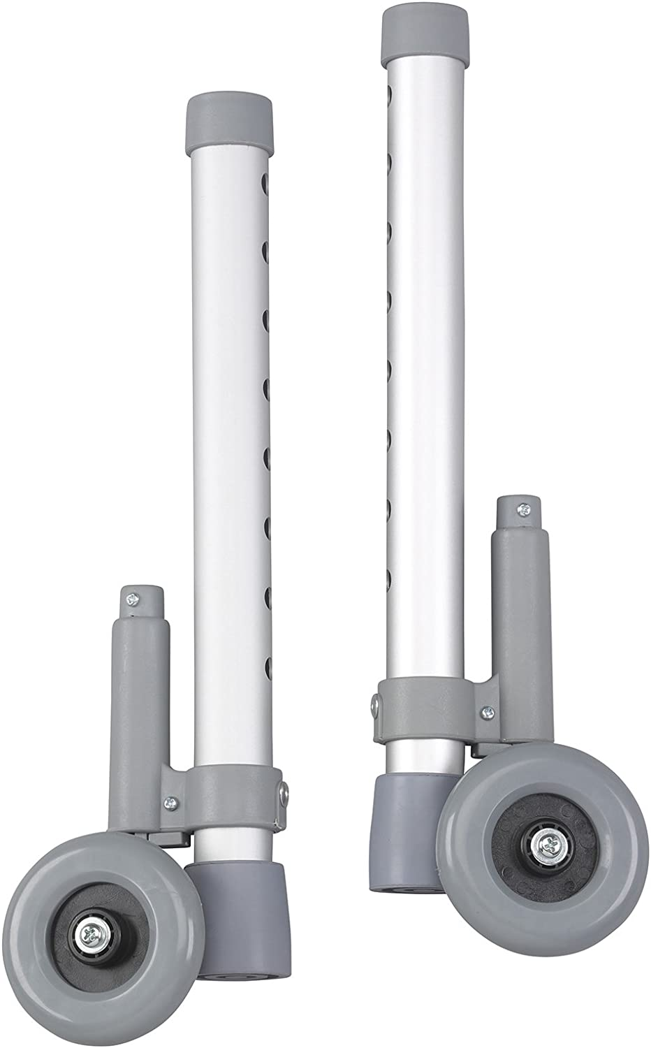 """Drive Medical Rear Glide Walker Brakes with 3"""" Wheel Option, Gray"""