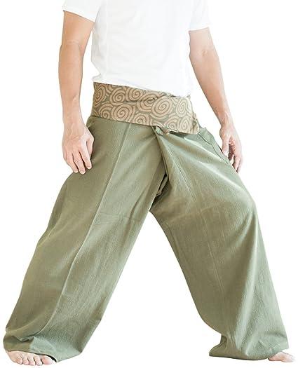 ee9e81eae59 Amazon.com  BohoHill Organic Cotton Thai Fisherman Pants Swirl Earth ...