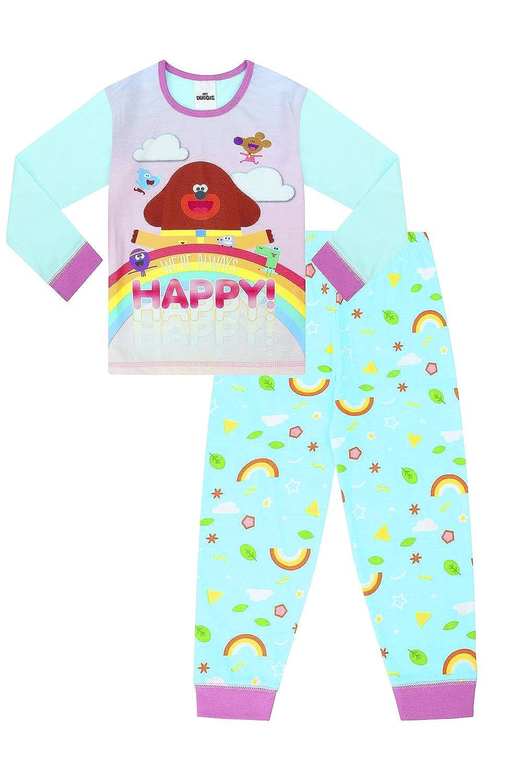 The PyjamaFactory Pigiama Lungo da Ragazza Ufficiale Hey Duggee Happy Rainbow W19