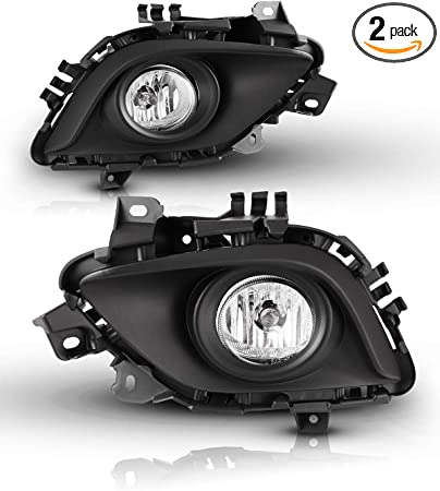 for Fog Lamps - includes switch and wiring kit 2PCS a Set Clear Lens 2014-2017 Mazda 6 AUTOWIKI Fog Lights