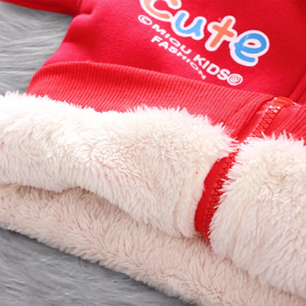 Lifestyler Girls Winter Cartoon Giraffe Coat Hooded Zipper Jacket Thick Warm Outerwear Clothes