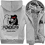 Rain's Pan Anime Danganronpa Monokuma Cosplay Costume Thick Fleece Hoodies Sweatshirts Coat Outwear Teens (US XS=Asia M)