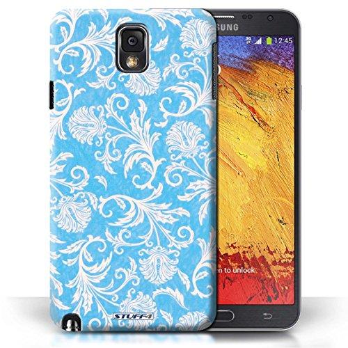 Etui / Coque pour Samsung Galaxy Note 3 / Fond Bleu conception / Collection de Fleurs