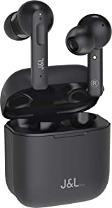 J&L Real Active Noise Cancelling Earbuds,Wireless Bluetooth Earbuds True Wireless Stereo (ANC) with Mic, 24 hrs Battery Life, Audio Quality,Sensor Control,Waterproof