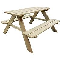 Festnight Table de Pique-Nique en Bois Table de Jardin avec bancs